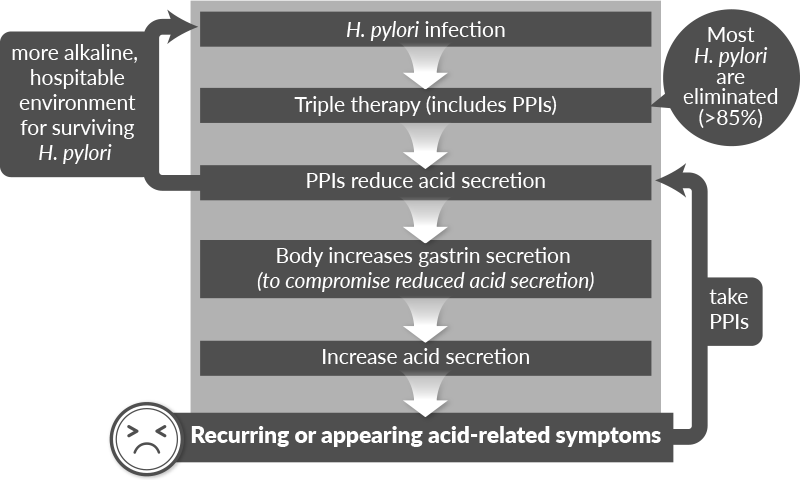 PPI triple therapy for H. pylori infection